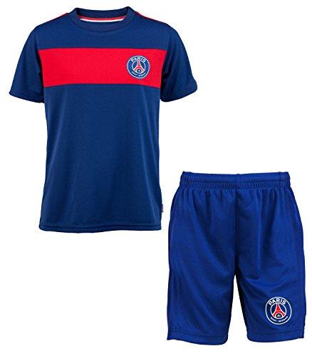 Trikot + Shorts–offizielle Kollektion für Kinder–Paris Saint-Germain PSG–Fußball 1. Liga für 4-Jährige blau