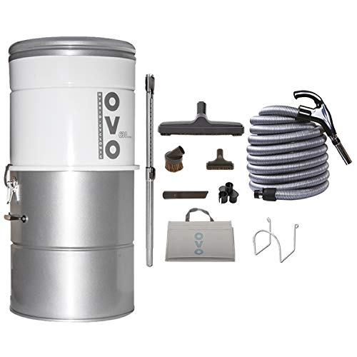 OVO Central Vacuum System, Vac + Kit A 30', Sliver