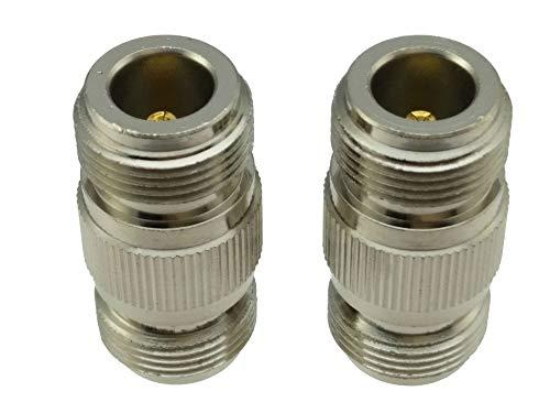 IGOSAIT 1 conector adaptador coaxial de RF hembra a N hembra en serie N (paquete: 1 10 unidades)