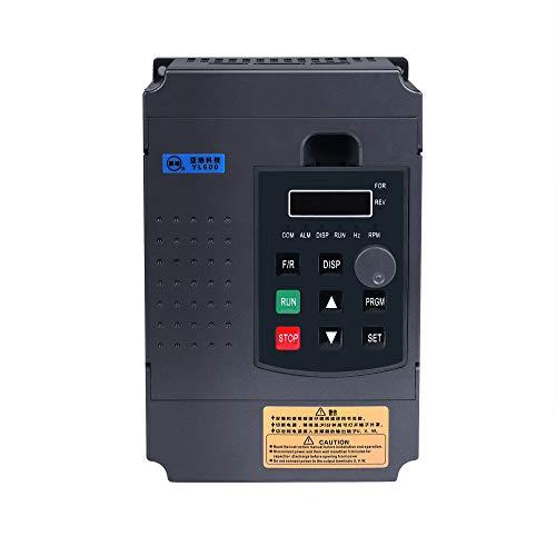 MYSWEETY 2.2KW VFD Frequenzumrichter Wechselrichter, 2.2KW 3HP 220V 12A für Spindelmotor Drehzahlregelung, Power Inverter Frequency Converter