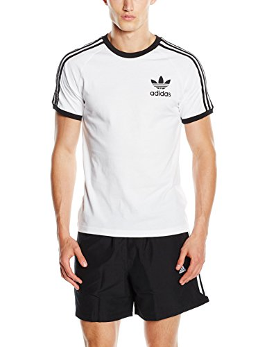 adidas California Camiseta de Manga Corta, Hombre, Color Blanco, tamaño Large