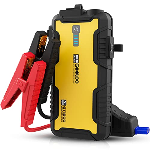 GOOLOO Car Jump Starter,1500A 12-Volt Lithium Battery Booster for Up to 8.0L Gas & 6.0L Diesel Engines,Portable Water-Resistant Car Battery Charger Jump Box with USB Quick Charge & Type-C Port,Yellow