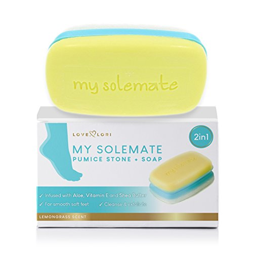 2 in 1 Foot Pumice Stone Scrubber And Callus Remover Cracked Heel Treatment With Lemongrass Moisturizing Foot Soap - My Solemate
