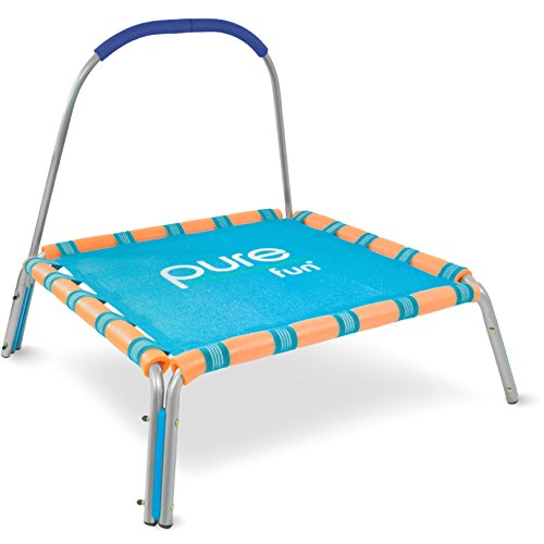 Pure Fun 38-inch Kids Jumper Bungee Trampoline with Handrail, Ages 3 To 7