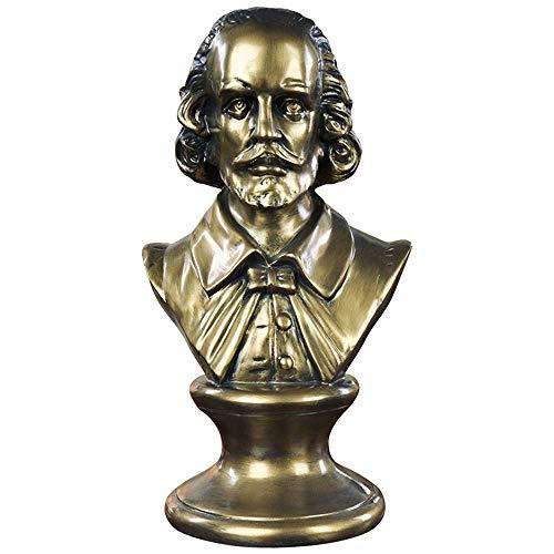 Shakespeare Busto De Decoración,caras Famosas Hechas A Mano Estatuas De Bustos Figuritas Jardín Mesa Figura Ornamento Para El Hogar Oficina Mesa Escritorio Decorativos 17*13.5*31cm(6.7*5.3*12.2in)