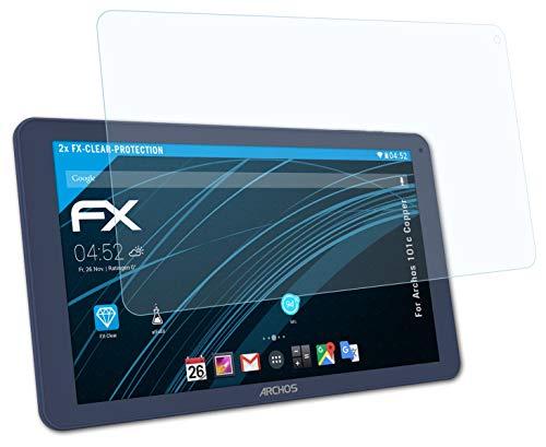 atFolix Schutzfolie kompatibel mit Archos 101c Copper Folie, ultraklare FX Bildschirmschutzfolie (2X)