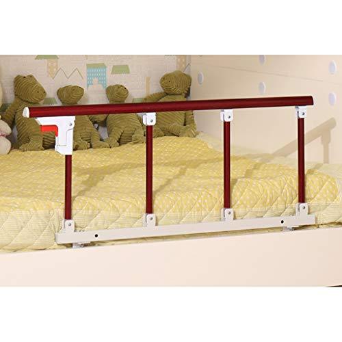 HEJINXL - Barra de seguridad para cama de adultos mayores y niños, barra plegable para la cabecera de hospital de metal, color rojo, madera, grano de color para discapacitados, tamaño 95 x 40 cm