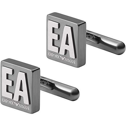 Emporio Armani - EGS2756060 gemelli da uomo ESSENTIAL in acciaio inossidabile argento