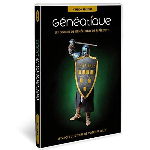GENEATIQUE 2021 Prestige en Coffret, Le Logiciel de référence pour Votre généalogie