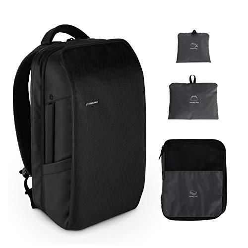 Sterkmann Business Handgepäck Rucksack Reiserucksack Herren Daypack Backpack - Erweiterbarer Wasserdicht für 15,6 Zoll Laptop mit Kompressionspackwürfel, Schuhbeutel und Wäschesack (30L)