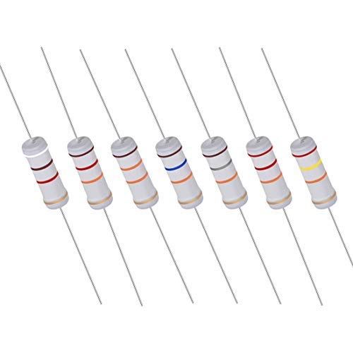 40 Stück 10 K Ohm Resistor, 3 W 5% Toleranz Metal Oxid Resistoren, Axial Lead, Flame Proof for DIY Electronic Projects and Experiments