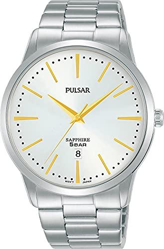 Pulsar Reloj Analógico para Hombre de Cuarzo con Correa en Metal PG8339X1