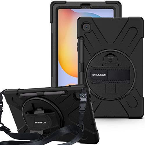 BRAECN Schutzhülle für Samsung Galaxy Tab S6 Lite SM-P610, Galaxy Tab S6 Lite Case, schwarz