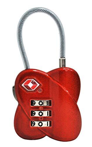 Cadeado TSA em zinco, Vermelho