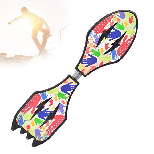Grist CC Streetsurfing Waveboards, Doppelrad Curl Snakeboard, 360° Schwenkr Casterboards, Torsion Swing Skateboards, Belastbar Bis 100Kg,D