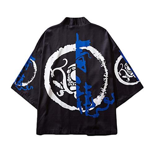 FRAUIT Heren strandbadjas opdruk Kimono zomer cardigan strand mantel mannen gebreide jas National Print Lose Jacket Yukata zacht comfortabele kleding blouse top
