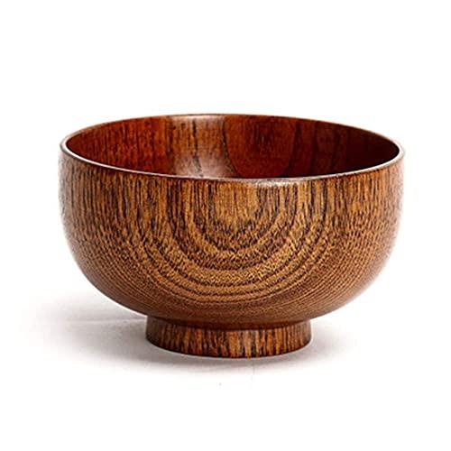 Hot Fashion Natural Wood Spice Jar Salt Box Scatola Cucchiaio Erbe Condimento Contenitore Ciotola Condimento Lattine Prugna Sale Bottiglia da Cucina Cucina (Colore: 1 PZ Jar) (Color : Bowl)