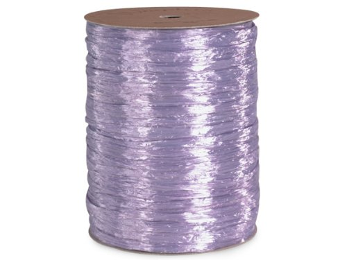Pearlized Lavender Gift Wrap Packaging Raffia Ribbon with Contoured Novelty Gift Tags