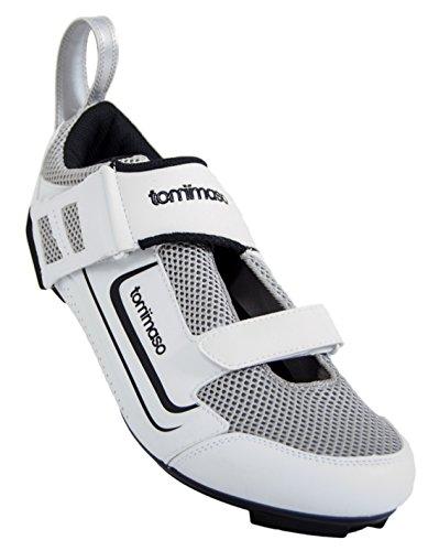 Tommaso Veloce 100 Triathlon Road Cycling Shoe - White - 43