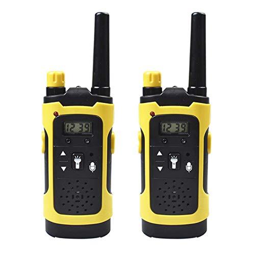 HJNGF Walkie Talkies Niños,Interfono Infantil Inalámbrico, Linterna incorporada.Regalos para Niños de 3+ años,Acampar Senderismo,Juguete y Regalo Ideal(1 Par) Yellow