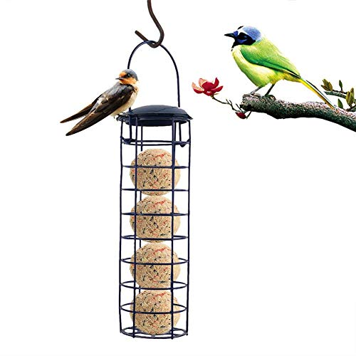 Verloco 24 cm hangende voederdispenser voor vogels, tuin, balkon, koffer, vogelvoerdispenser