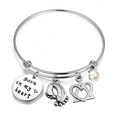 bobauna Adoption Gift Born In My Heart Adoption Bracelet For Adoptive...