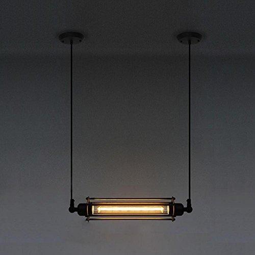 American Retro Industrial Wind Pendant Light, Matériau Fer, E27 Screw Boca, pour l'entrée, Balcon, Chambre