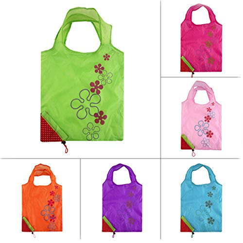 JINLL Strawberry Reusable Shopping Bag Foldable Handbag In Bag Resistant And Washable Polyester Supermarket Bag Eco-Friendly Shopping Bags