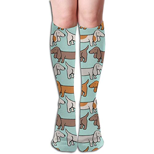 xinfub Delighted Dackel Unisex bequeme Crew Socken, sportliche Freizeitsocken, ideal für Laufen, Sportsport, Flug, Reisen bequem 6058