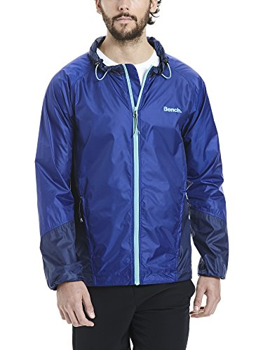 Bench Herren Windbreaker Colour Block Softshelljacke, Dark Blue, XXL