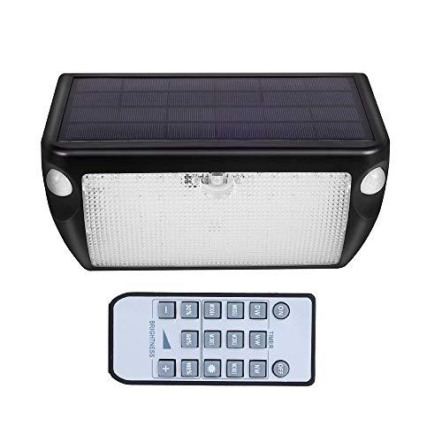 Lixada Solar Light buitenlicht dubbele kop sensor licht afstandsbediening geluid control deur licht huishouden waterdichte straatlantaarn landelijke verlichting wandlamp