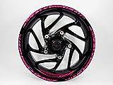 Bike Label 770001-VA - Juego de pegatinas para llantas de 16 a 18 pulgadas, color rosa neón