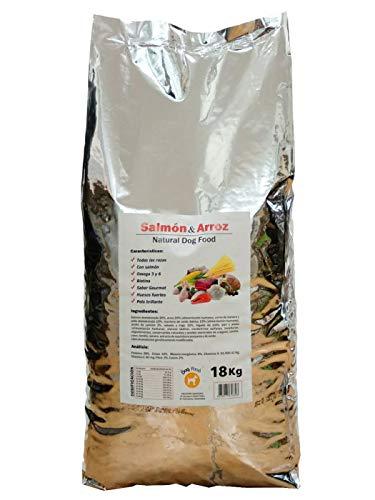 FORZECAN Pienso para Perros Natural Food con Salmón y Arroz - 18 kg