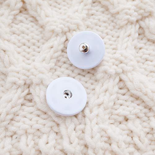 【スナップボタン(縫い付けタイプ)】シルクスナップボタン #ASP0002 21mm C/#01 ホワイト 2個セット