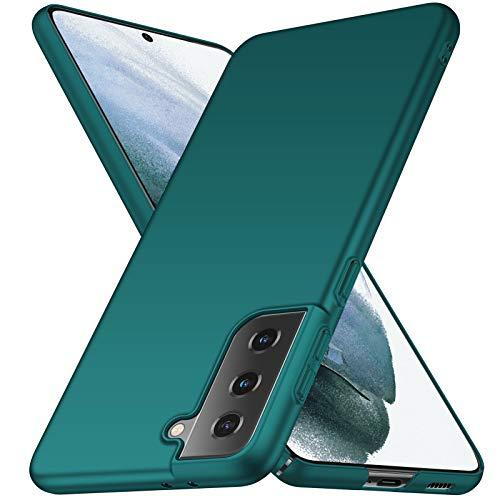 ORNARTO Custodia Samsung S21 5G, Cover Sottile e Legere Protettiva Mat AntiGraffio Antiscivolo Plastica Dura PC Shell per Samsung Galaxy S21 5G(2021) 6,2 Pollici Verde