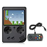BYLGKE Handheld Games Electronic Games Console for Kids/Adults - 8 Bit 168 Classic Games 3 Inch Screen Retro Games Console with Controller for 2 Player on TV