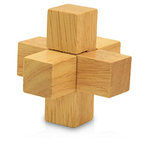 3D Wooden Premium Brain Teaser Puzzle and Early Education Toys, Kongming and Luban Lock and Luban Ball, Iq Brain Toys Intellectual Brain Development Assembling Block Toys(Hero)