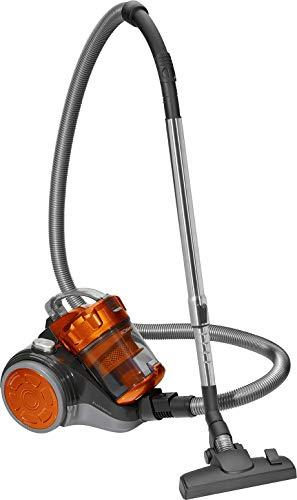Bomann BS 9027 CB Eco-Cyclon Twin-Spin Bodenstaubsauger, beutellos mit extra großem Aktionsradius, circa 8,3 m, anthrazit/orange