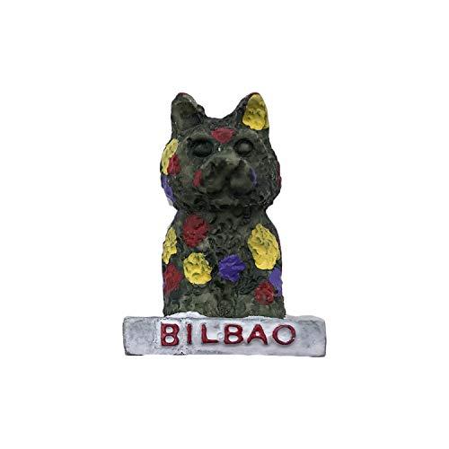 3D Bilbao España Imán de Nevera Recuerdos de Viaje turístico Resina Hecha a Mano Artesanía Magneticos Hogar Cocina Decoración Colección Regalo
