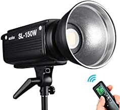 Godox SL-150W 5600K CRI95+ LED Studio Lights Bowens Mount Photography Continuous Video Light with Remote Controller & Reflector
