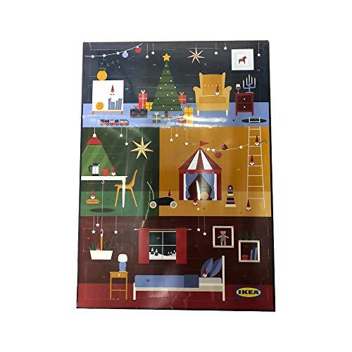 Ikea Adventskalender 2020 | inkl. 2 Aktionskarten im Wert von mindestens 10 Euro | Schokoladenpralinen