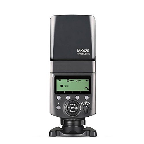 Meike MK420S professionale Batteies Li-Ion TTL flash Speedlite con display LCD per Sony mi Hot Shoe Mount fotocamera + batteria al litio + diffusore +