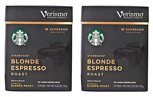 Starbucks Blonde Espresso Roast Espresso Verismo Pods (Pack of 2)