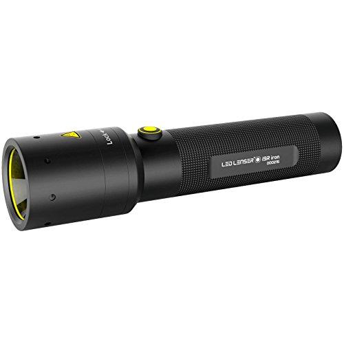 Led Lenser B07F87CP92 i9R - Linterna recargable industrial de hierro, color negro y amarillo