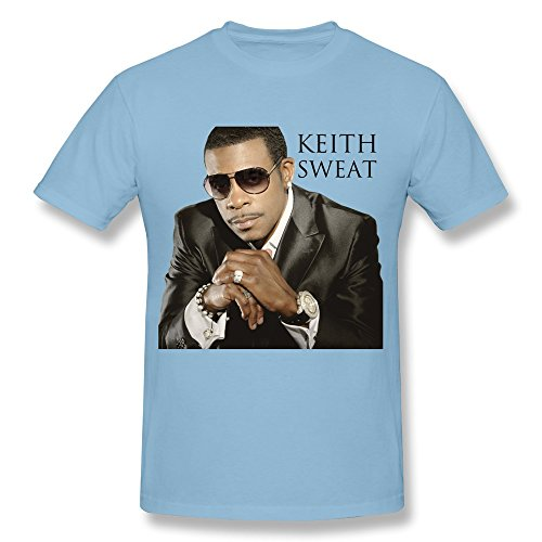 LQQ American R&b Singer Keith Sweat Fan Logo T Shirt for Men SkyBlue XXL