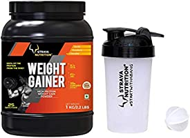 Strava Nutrition Weight Gainer with Shaker - 1 kg (Chocolate Flavour)