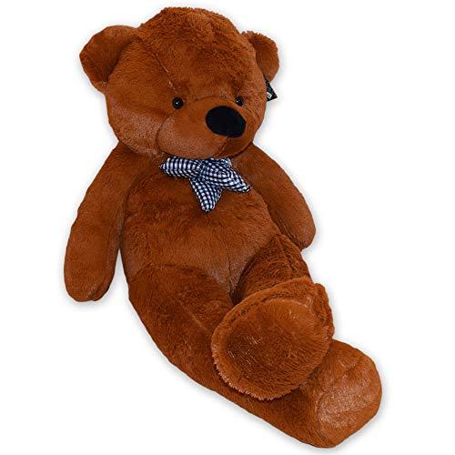 TE-Trend Bär Plüschbär Riesen Kuscheltier XXL Teddybär Riesig Large Teddy Bear Plüschteddy 120 cm Dunkelbraun Braun