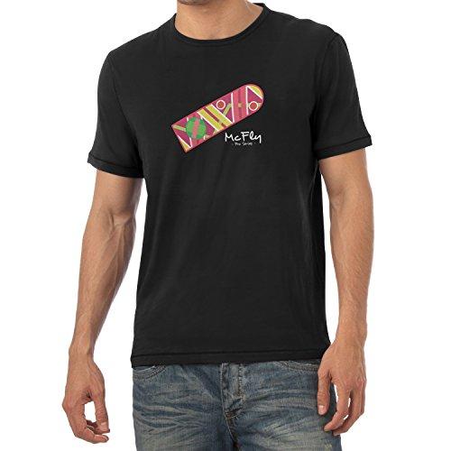 Texlab Herren McFly Pro Series Hoverboard T-Shirt Schwarz, XL