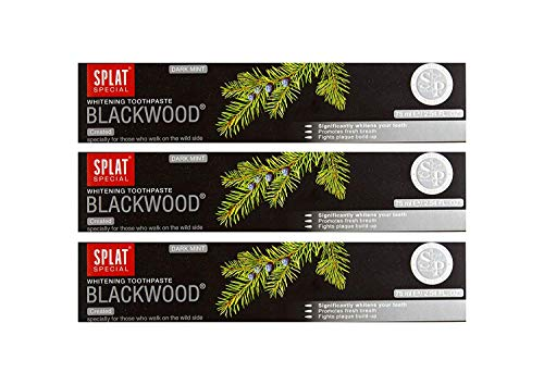 3x Splat Blackwood Libre Fluoruro Carbono Pasta de Dientes Blutstillend y Entzündungshemmend