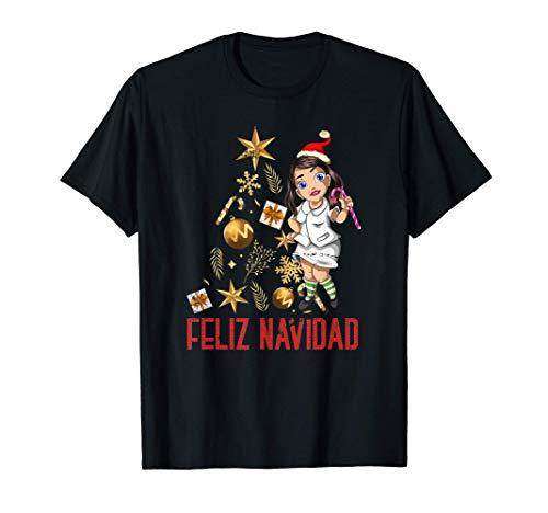 Estetoscopio Árbol De Navidad Feliz Navidad Enfermera Camiseta
